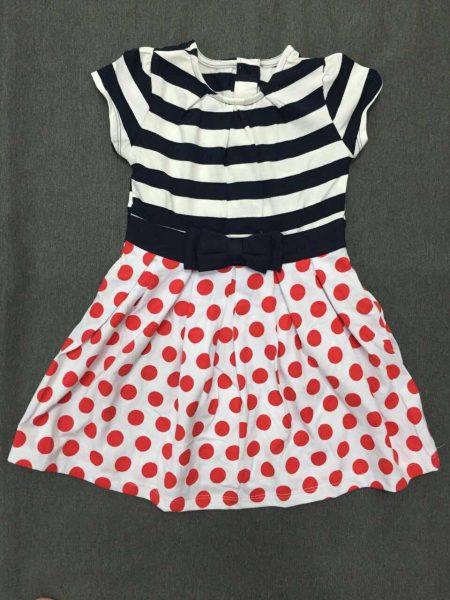 Đầm thun chấm bi cho bé gái