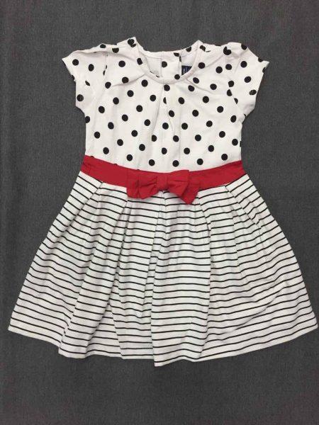 Đầm thun chấm bi quần sọc đen cho bé gái