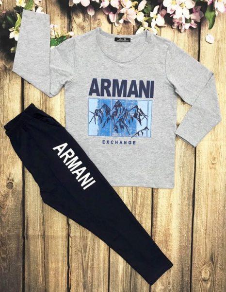 Áo thun bé trai dài tay ARMINA màu xám