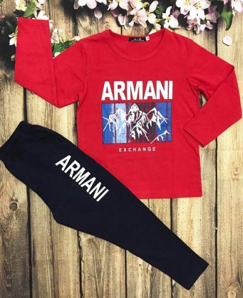 Áo thun bé trai dài tay ARMINA màu đỏ