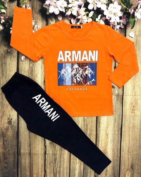 Áo thun bé trai dài tay ARMINA màu cam