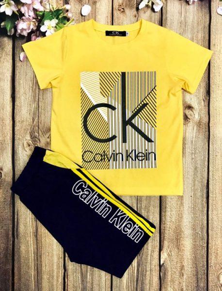 Áo thun bé trai tay ngắn Calvin Klein màu vàng